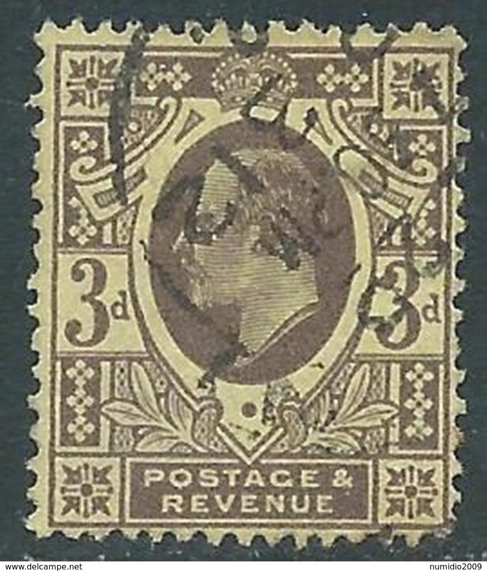 1911 GREAT BRITAIN USED SG 285 3d PURPLE LEMON - F22-3 - 1902-1951 (Re)