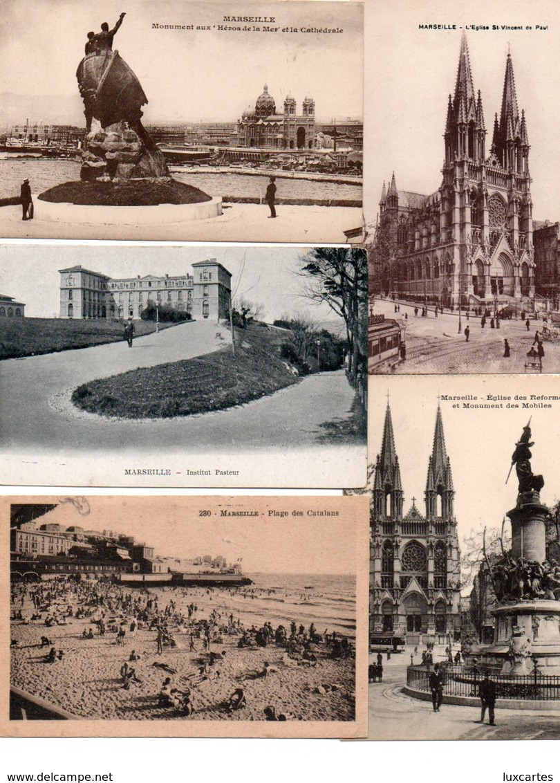 LOT DE 500 CPA ET CPSM(petit Format)  DE MARSEILLE - Cartes Postales