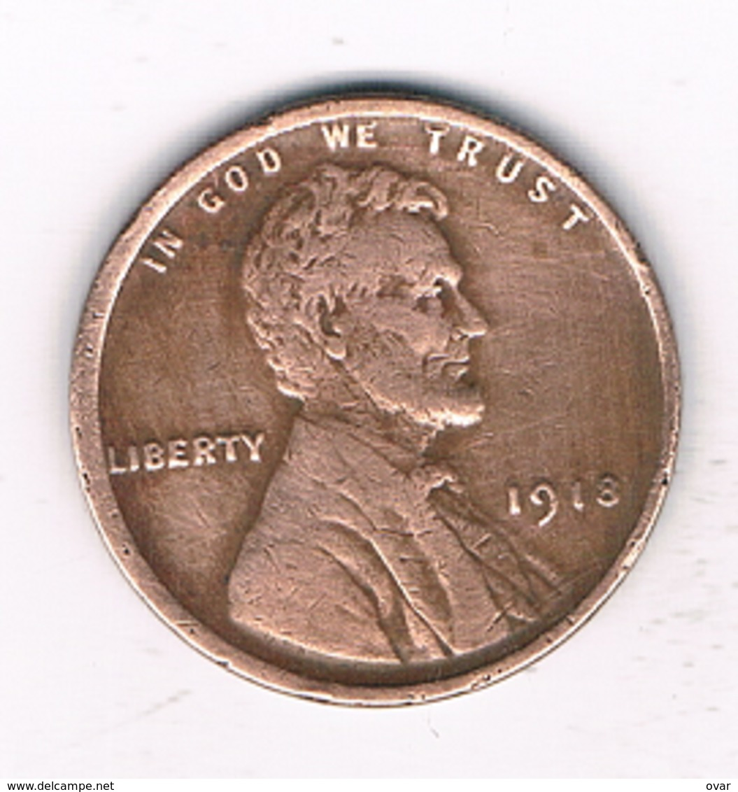 ONE CENT 1918  USA /1084/ - Federal Issues
