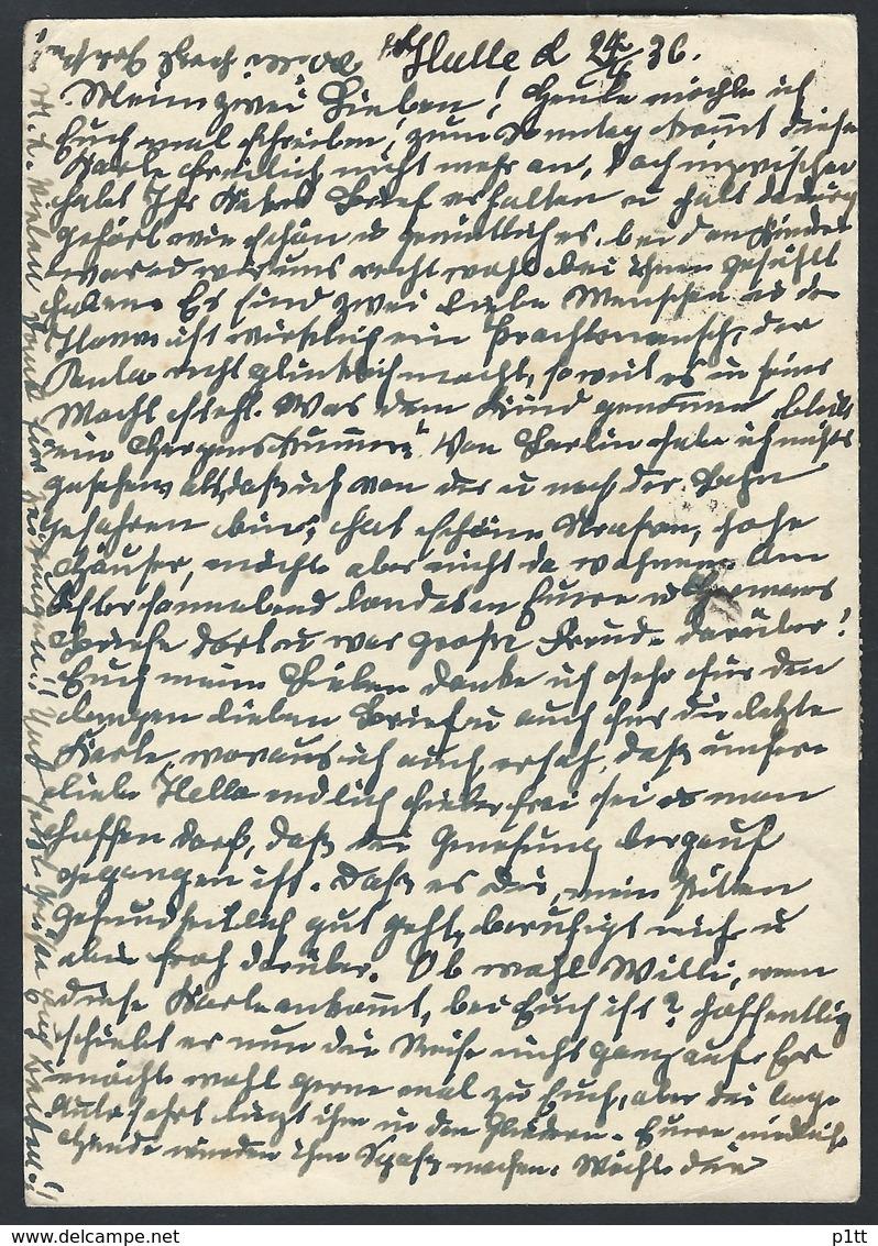 40de.Postcard. Post 1936 Year. Halle ( Deutsches  Reich) Melilla (Spain, North Africa).Advertising Stamp - Covers & Documents