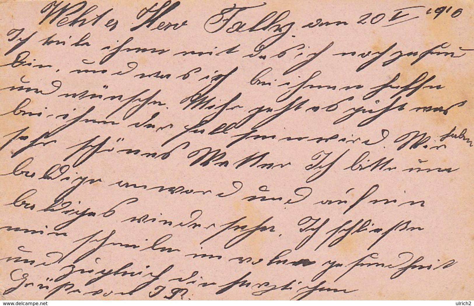 Feldpostkarte Wien Nach K.u.k. Bahn Sicherungs Komp In Opcina Bei Triest Feldpost 614 - 1916 (39323) - Briefe U. Dokumente