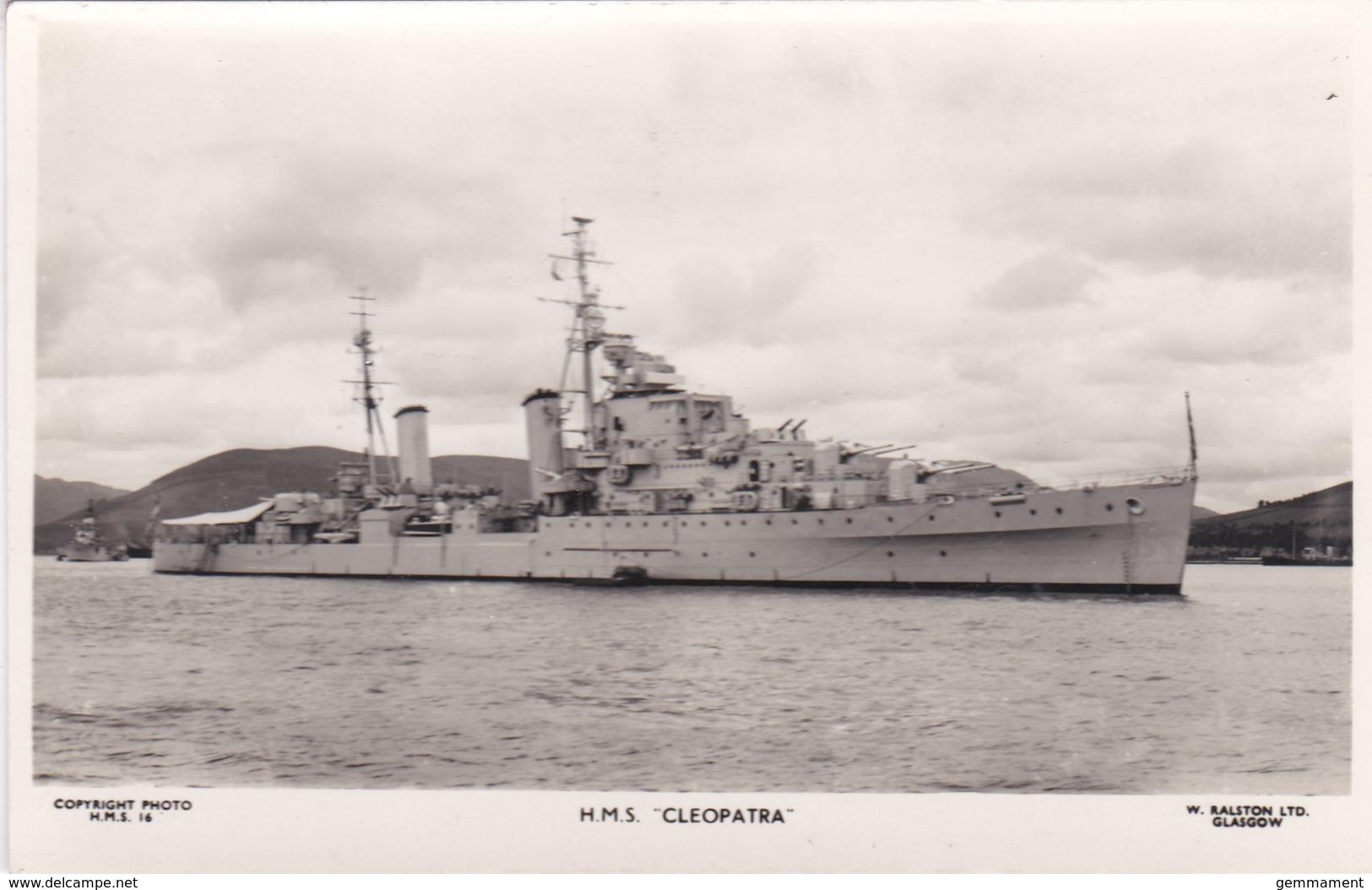 H.M.S. CLEOPATRA - Warships