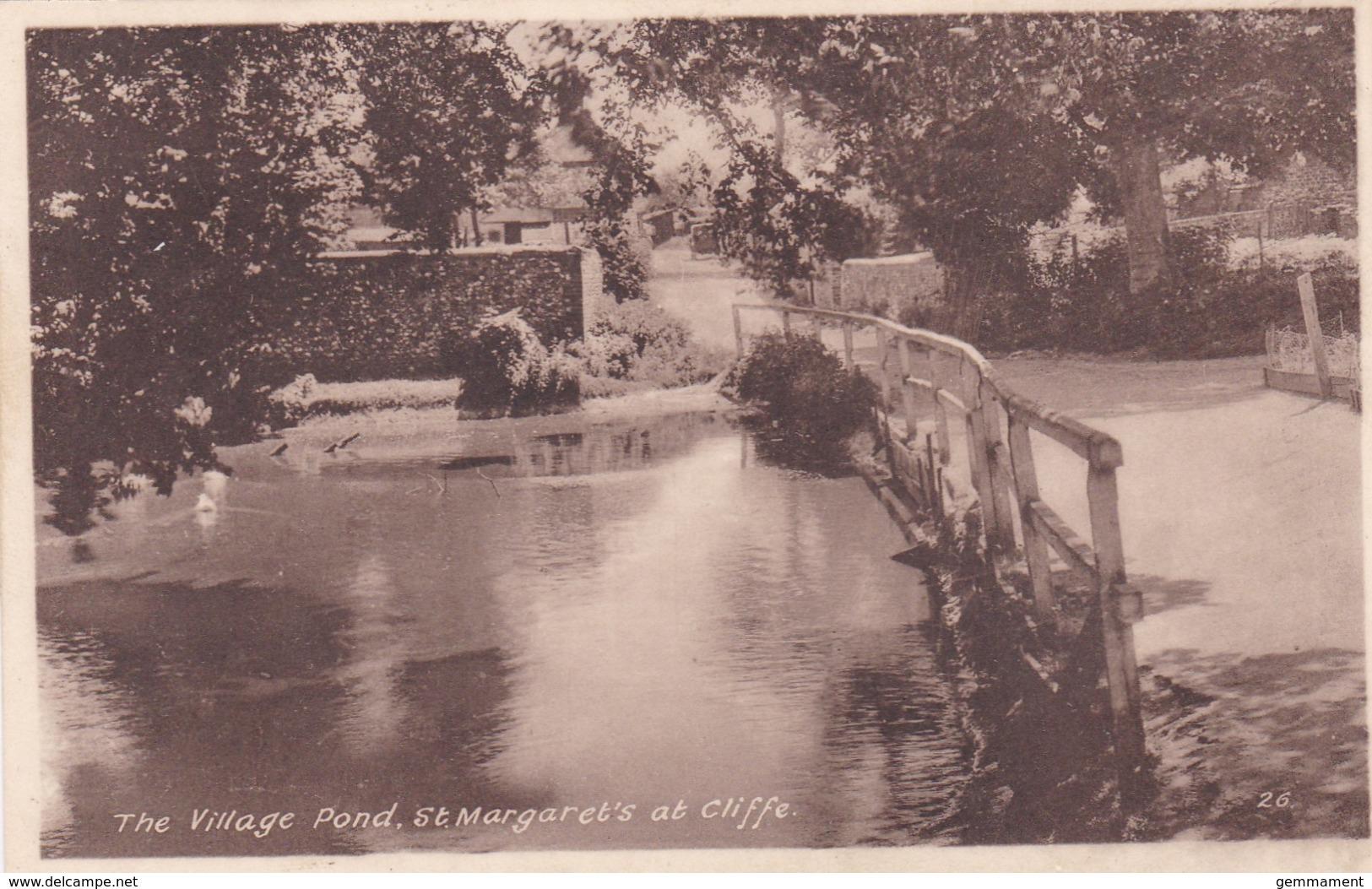 ST MARGARET'S AT CLIFFE - THE VILLAGE POND - England