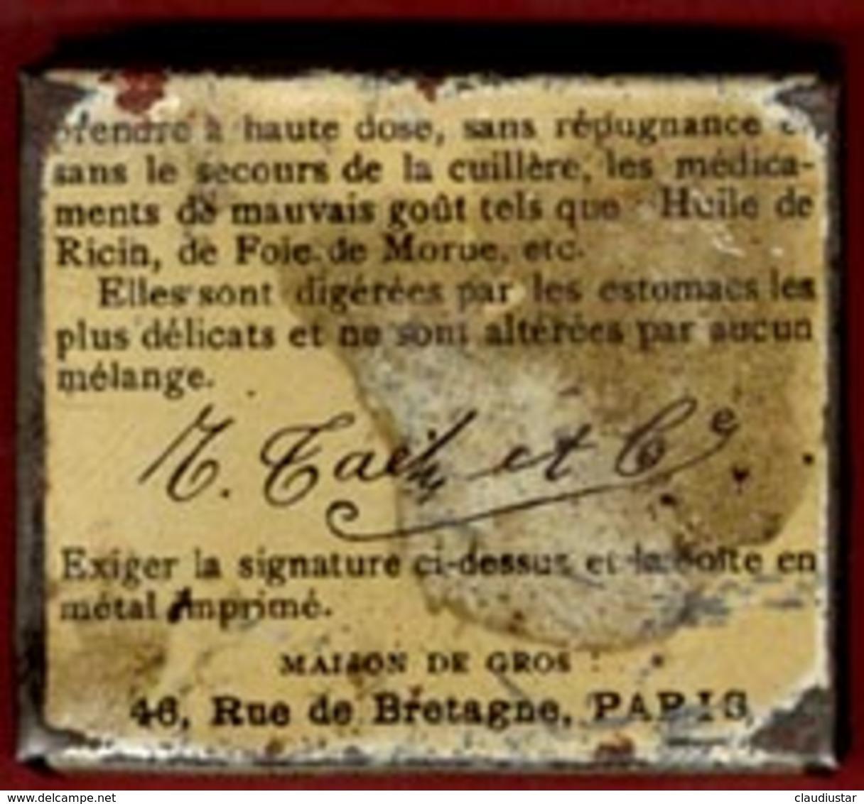 ** BOITE  CAPSULES  TAETZ  -  PARIS ** - Boîtes/Coffrets