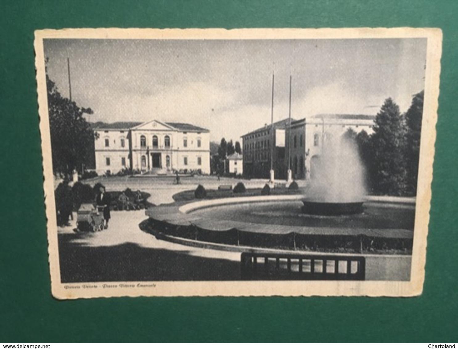 Cartolina Vittorio Veneto - Piazza Vittorio Emanuele - 1947 - Treviso