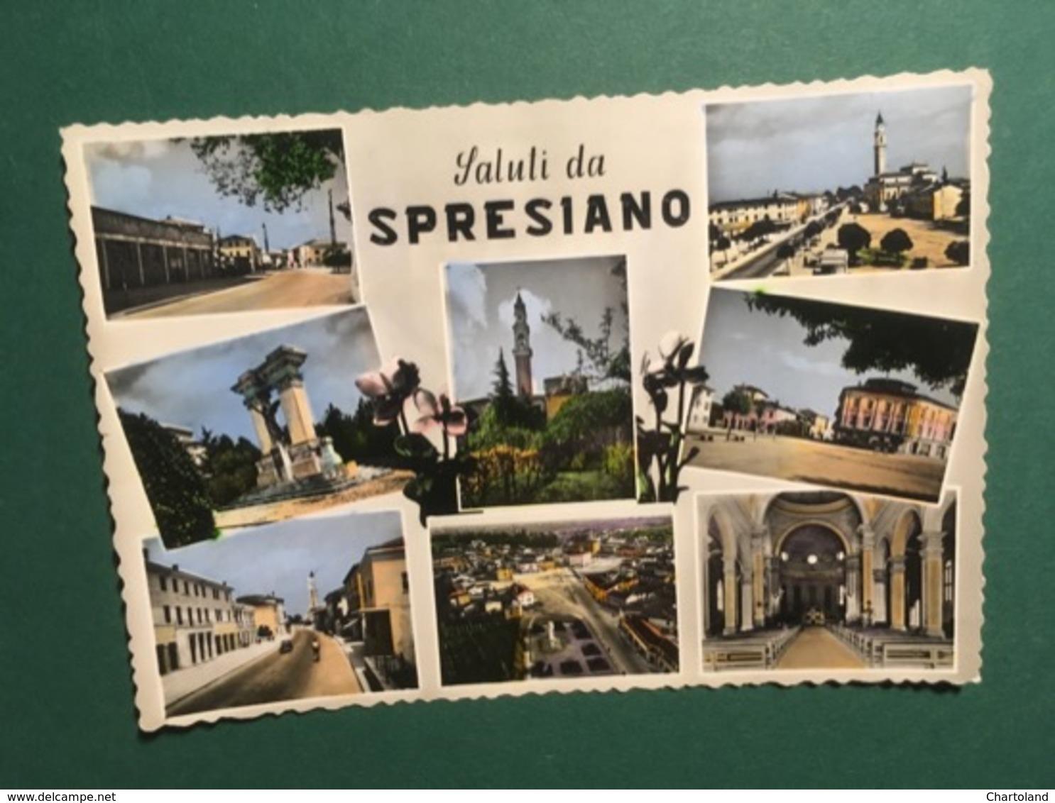 Cartolina Saluti Da Spresiano - 1956 - Treviso