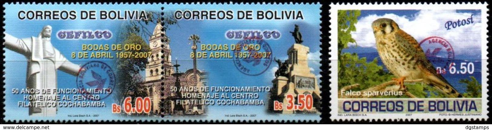 Bolivia 2018 ** CEFIBOL 2354-56 CEFILCO, Falco Sparverius  Habilitadas Para Uso En Tarija. - Bolivia