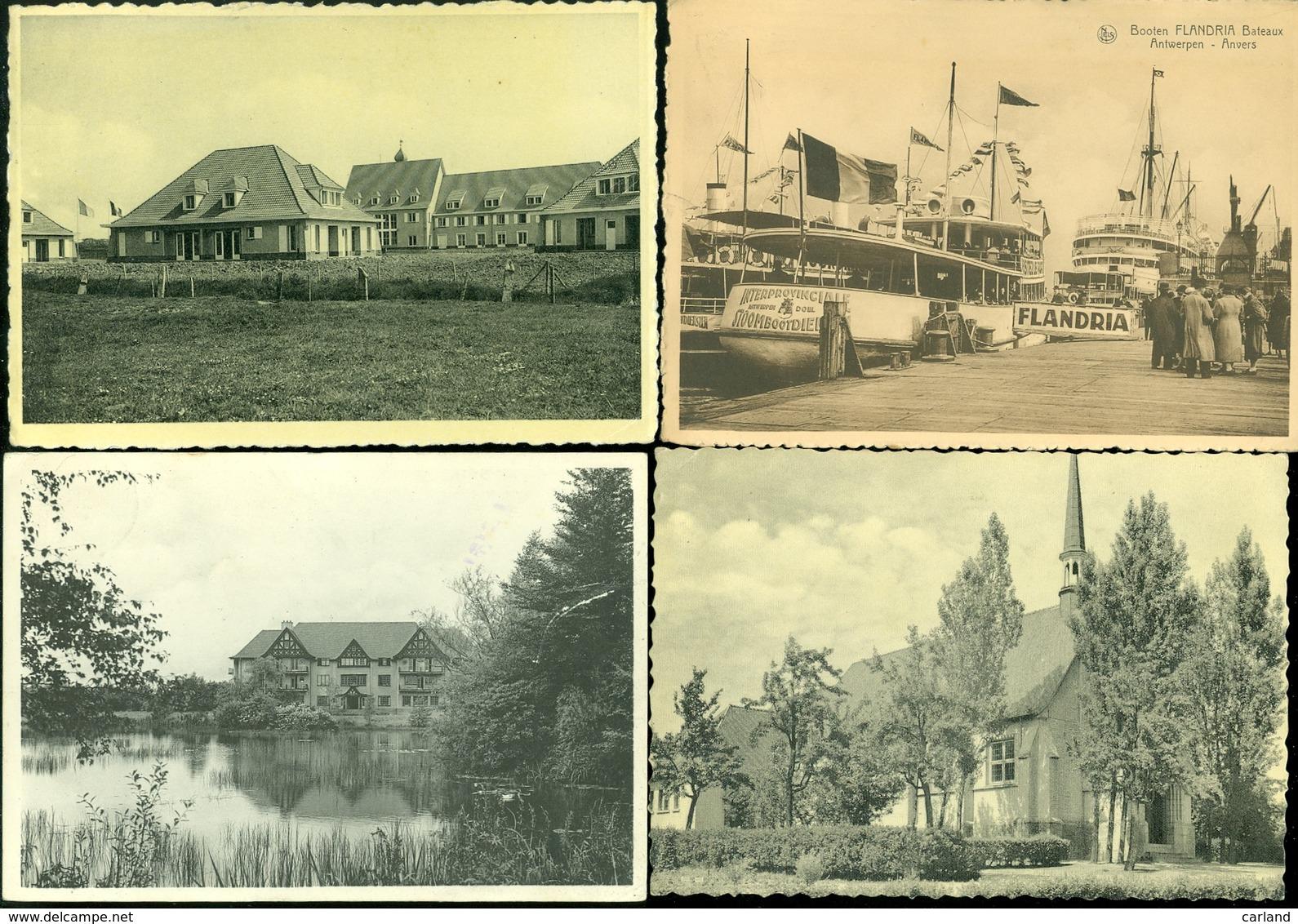 Lot De 60 Cartes Postales De Belgique  Grand Format      Lot Van 60 Postkaarten Van België Groot Formaat - Cartes Postales