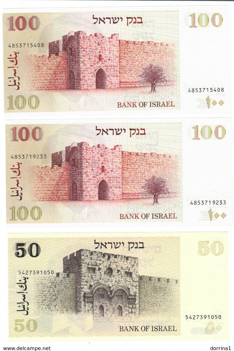 Israel Lot Of 5 New & Used Banknotes - Israel