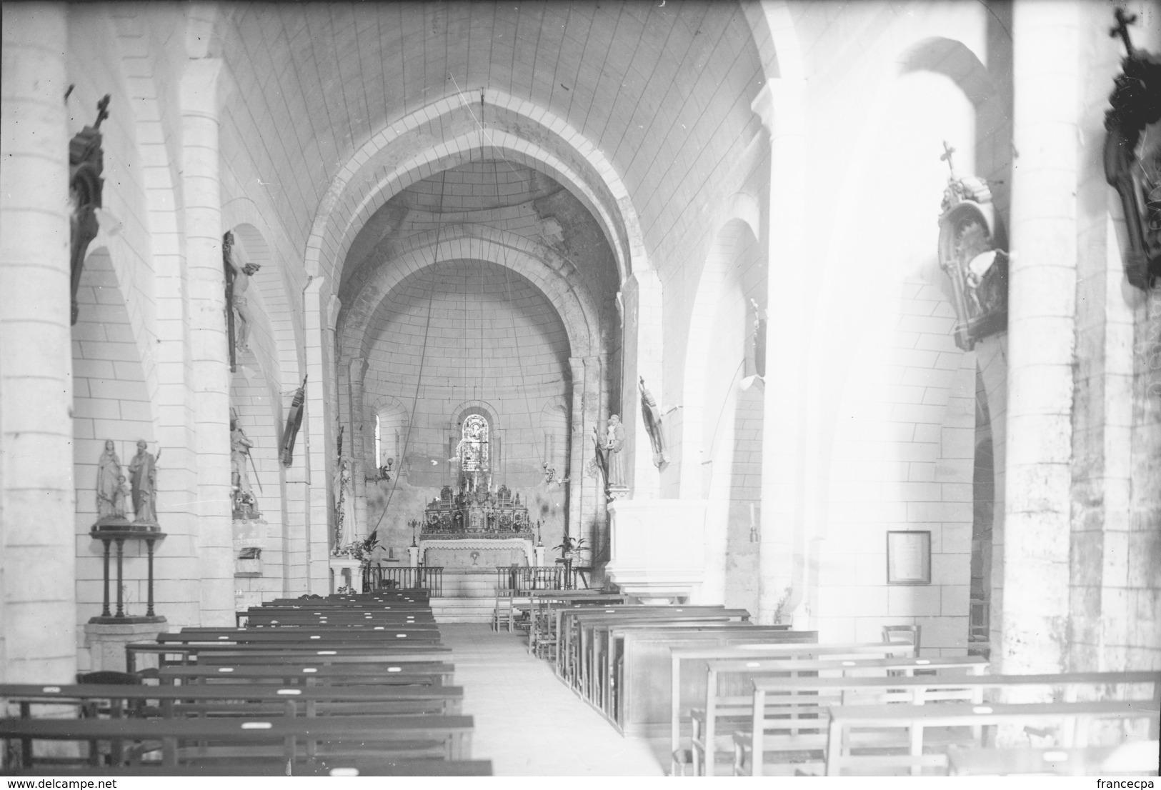 PN - 052 - CHARENTE - DIGNAC -  Eglise - Intérieur - - Plaques De Verre