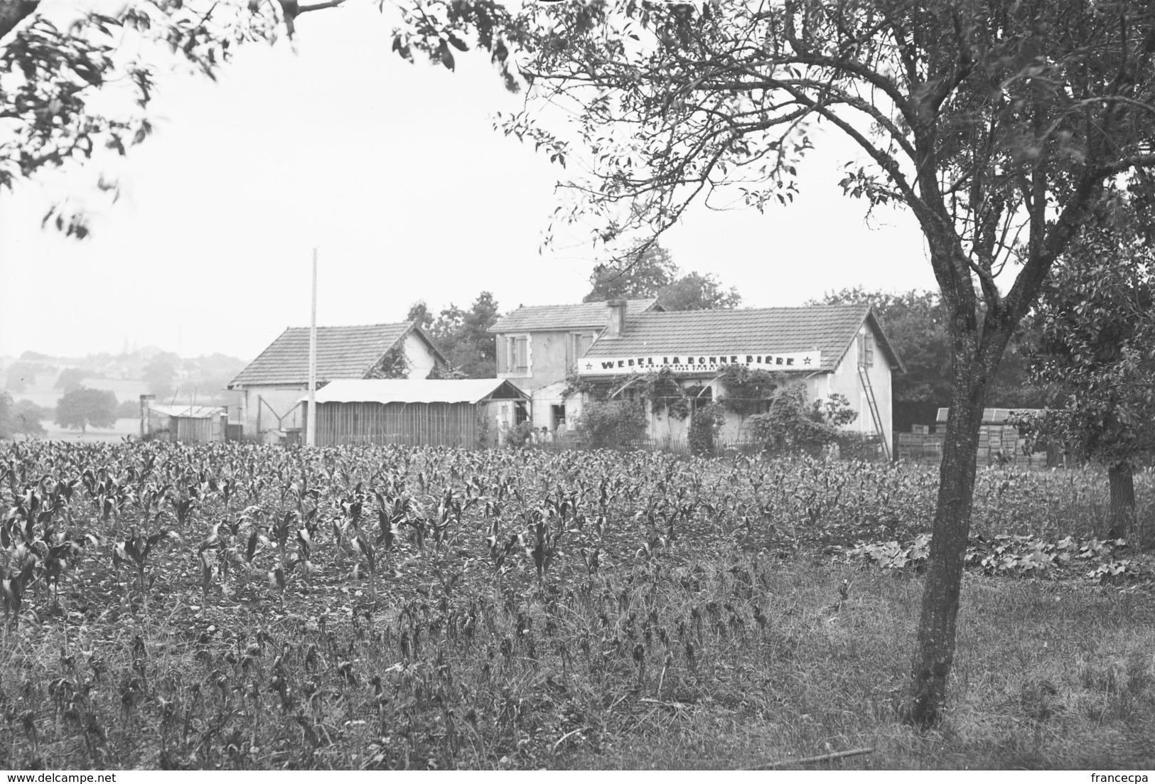 PN - 160 - CHARENTE - 16 - LA BRACONNE - Le Camp Café Restaurant Pub Bière Webel - - Plaques De Verre