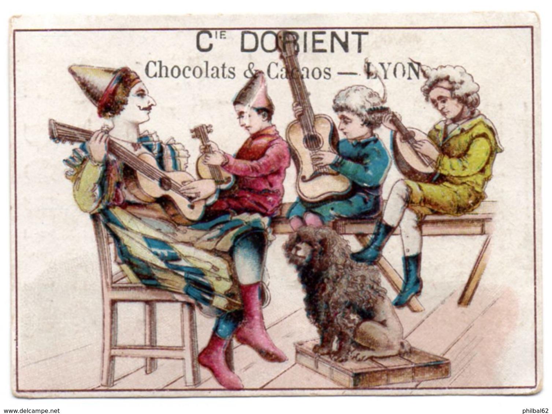 Chromo Chocolat Cie D'Orient. Musiciens En Costumes Et Instruments à Cordes. - Chocolate
