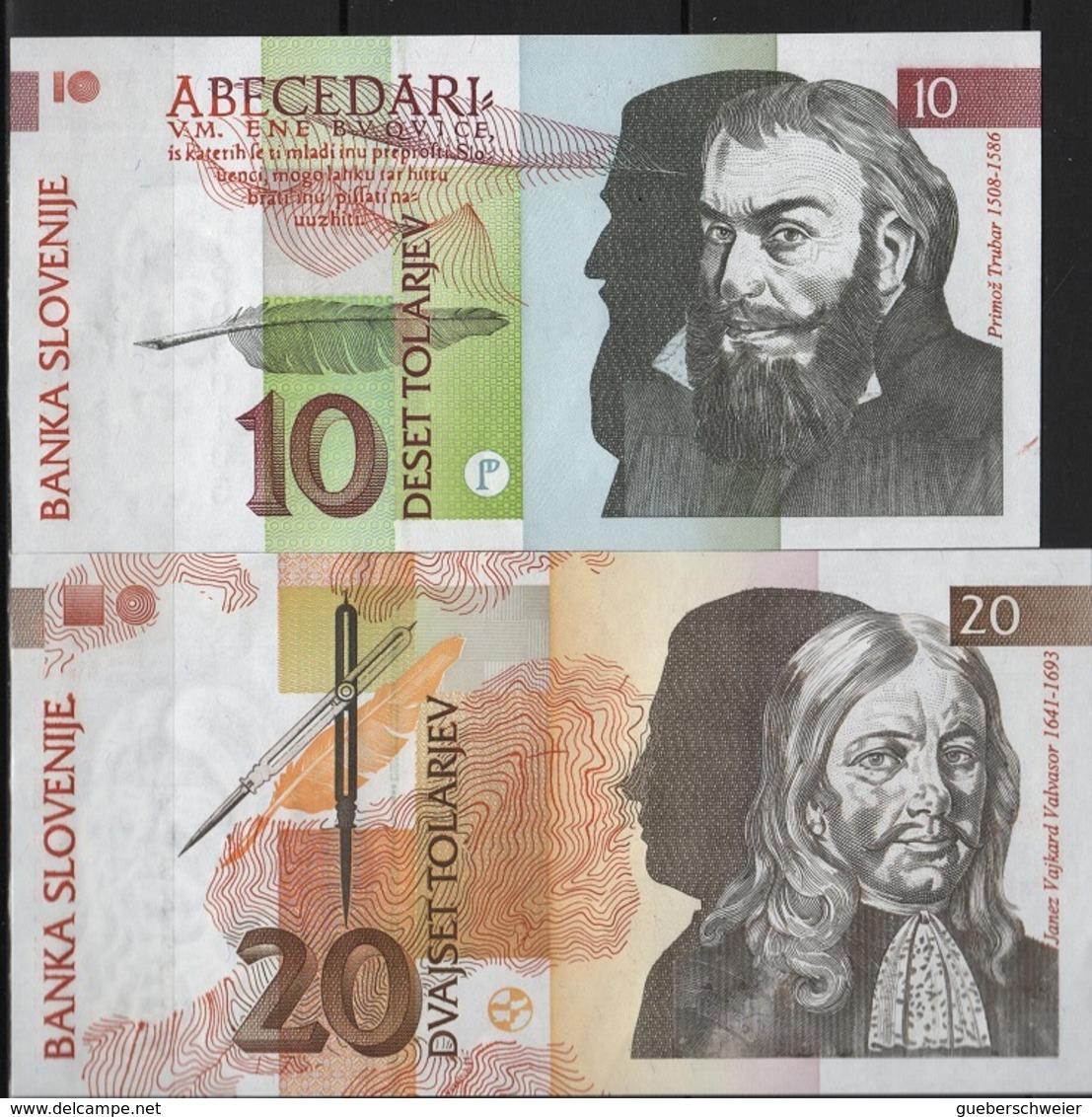 B 113 - SLOVENIE Billets De 10 Et 20 De 1992 état Neuf 1er Choix - Slovénie