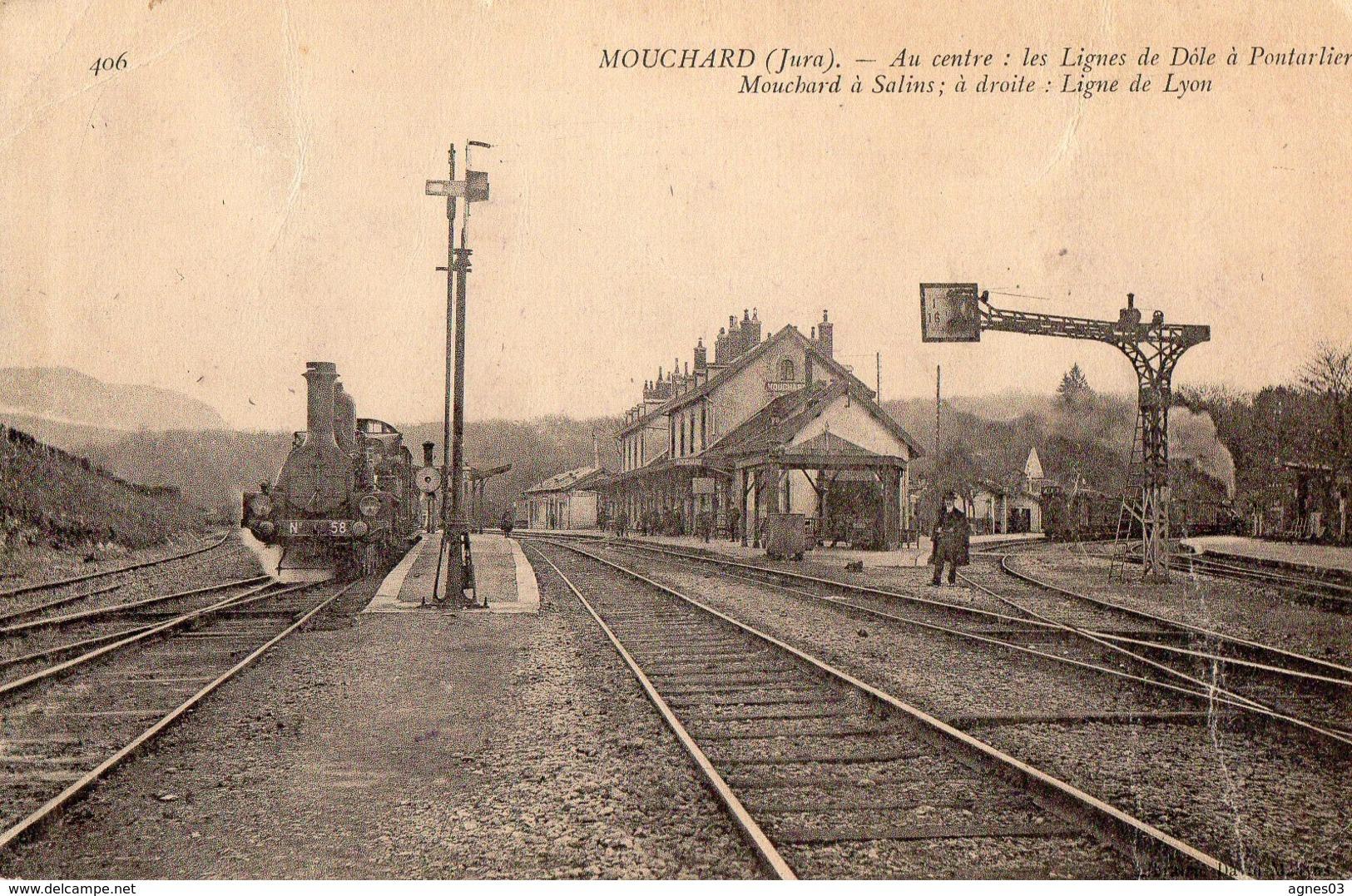 MOUCHARD   - Lignes Dole A Pontarlier - Autres Communes