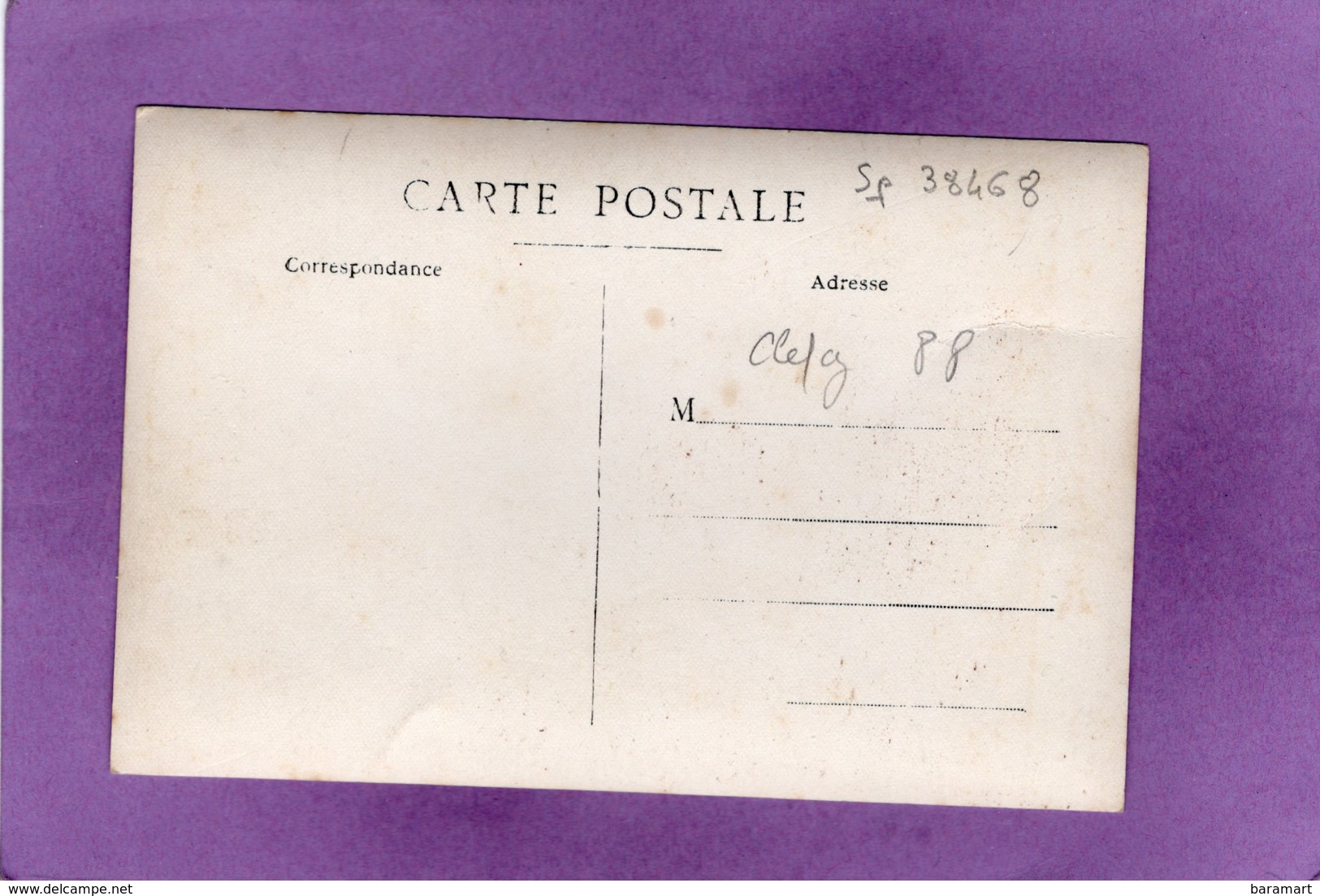 88 CLEFCY  BAN SUR MEURTHE  GUERRE 1914 1918 Les éclopés Devant La Mairie Carte Photo - France