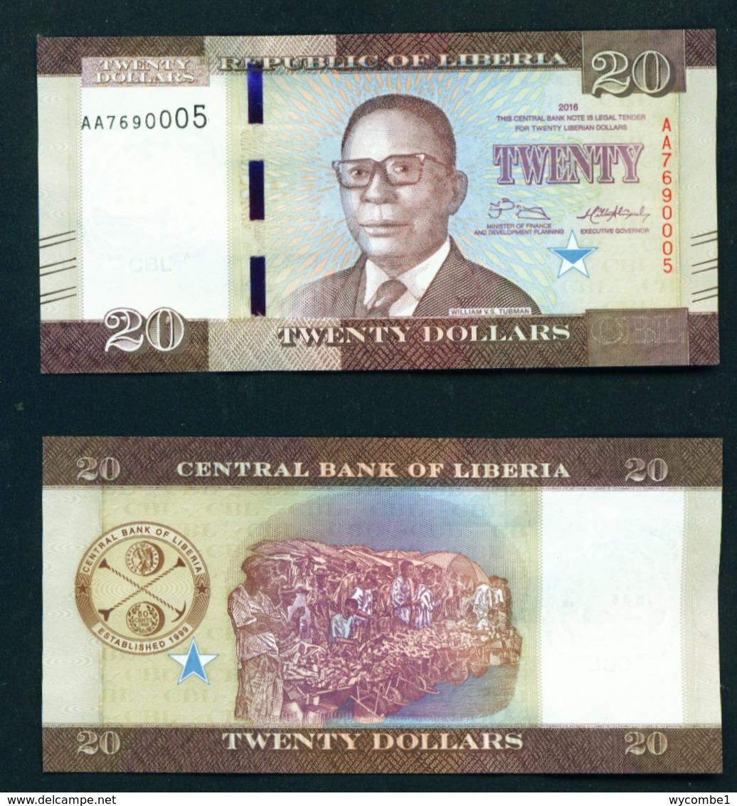 LIBERIA - 2016 $20 UNC - Liberia