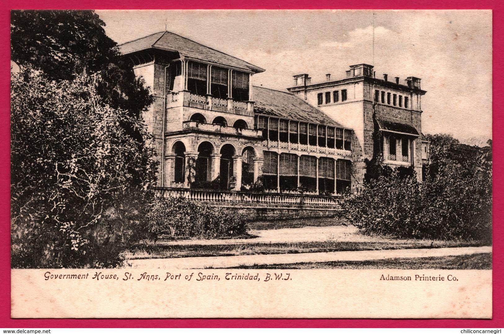 Trinidad - Government House - St. Anns - Port Of Spain - Trinidad - B.W. J. - ADAMSON Co - Trinidad