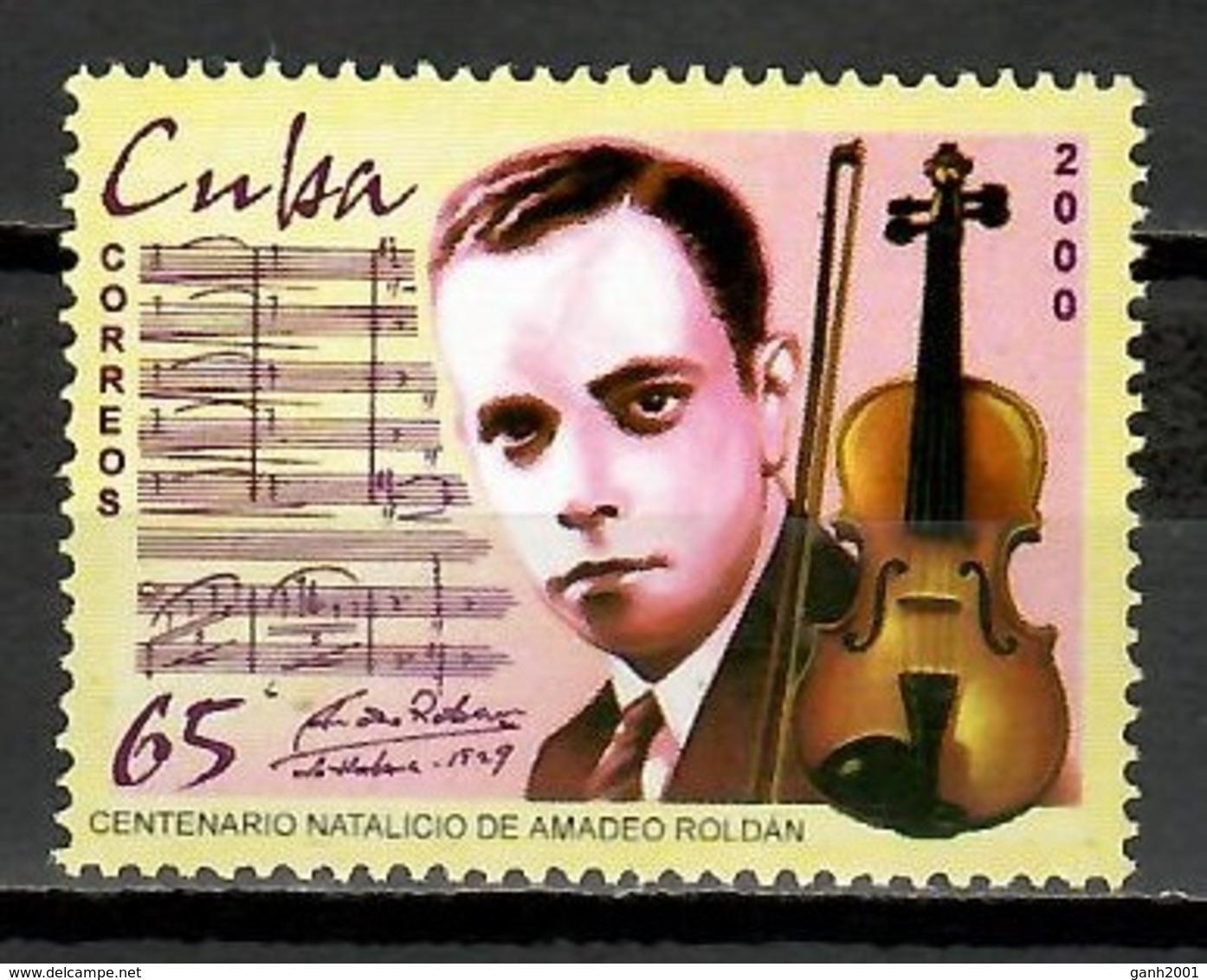 Cuba 2000 / Musician Amadeo Roldán Music MNH Música Musik / Cu11407  C5-25 - Música
