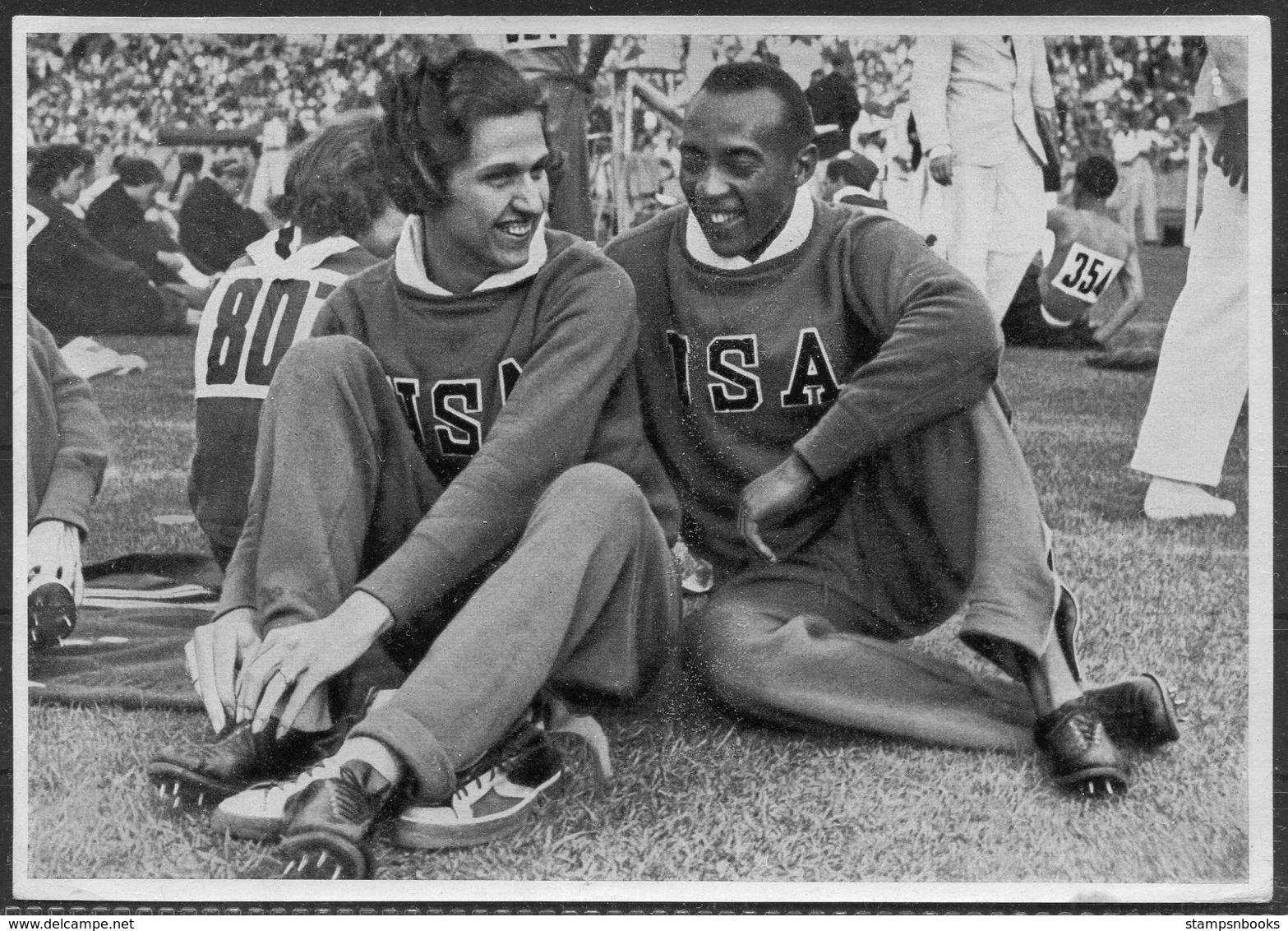 1936 Germany Berlin Olympics Olympia Sammelwerk 14 Bild 21 Gruppe 58 USA Jesse Owens, Helen Stephens - Trading Cards