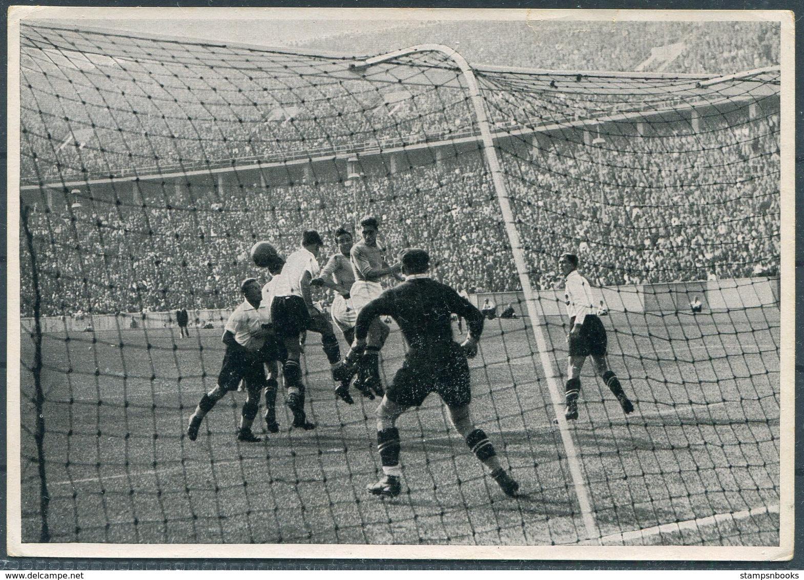 1936 Germany Berlin Olympics Olympia Sammelwerk 14 Bild 146 Gruppe 58 Italy V Austria Football - Trading Cards