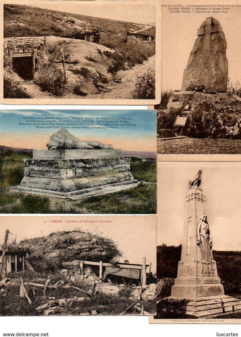 LOT DE 500 CPA ET CPSM(petit Format)  DE LA BATAILLE DE VERDUN - Cartes Postales