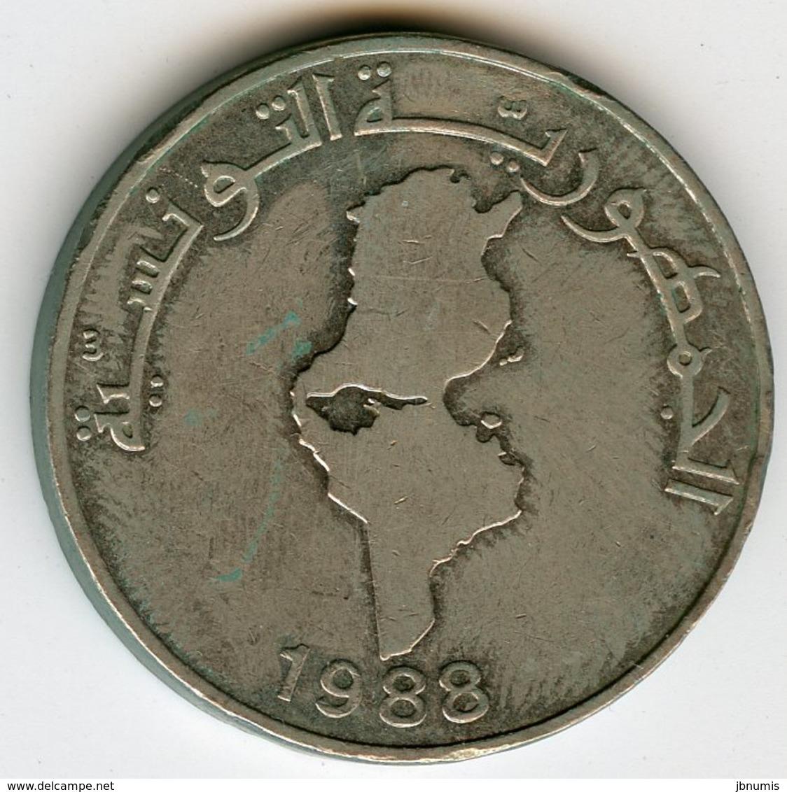 Tunisie Tunisia 1 Dinar 1988 FAO KM 319 - Tunisie
