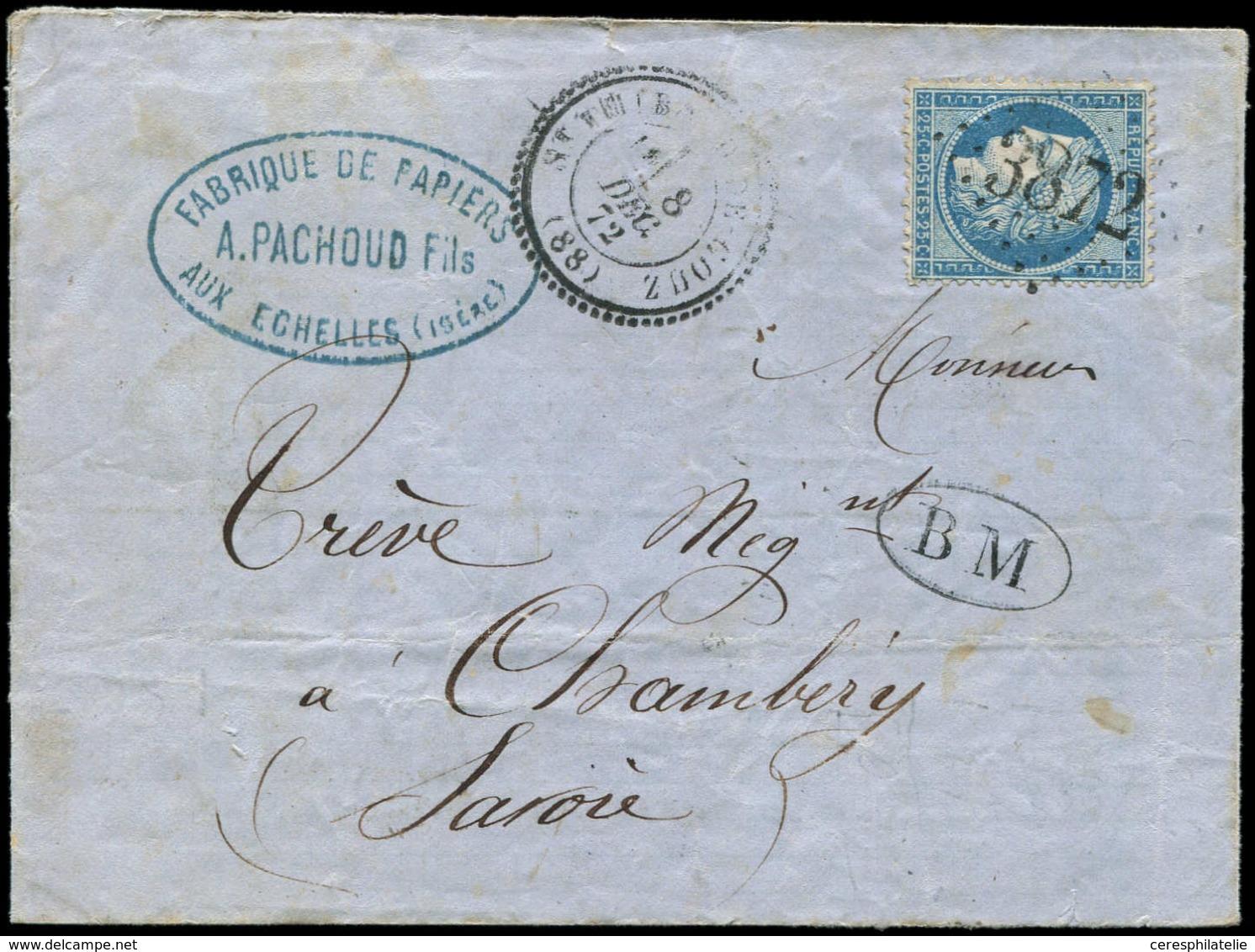 Let DUCHE DE SAVOIE - 88/SAVOIE N°60A Obl. GC 3872 S. LAC Un Peu Fatiguée, Càd T24 ST THIBAUD-DE-COUX 8/12/72 + Cachet B - 1849-1876: Classic Period