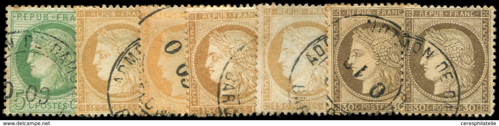 N°38, 53, 55 (2), 56 (2) Et 59, Obl. Espagnole, TB/TTB - Stamps
