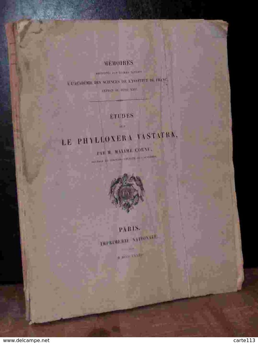 CORNU Maxime - ETUDES SUR LE PHYLLOXERA VASTATRIX - Livres, BD, Revues