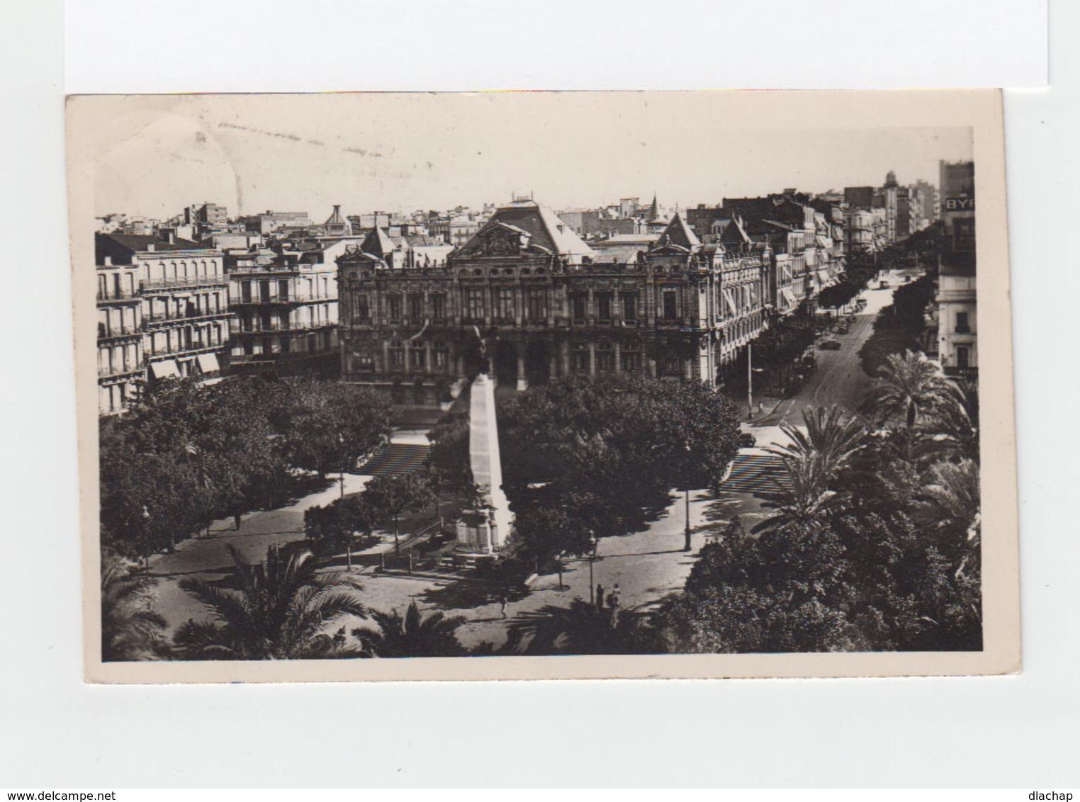 Sur Carte Postale D'Oran Timbre Vue D'Alger CAD Oran R.P. 1941. Poste Aérienne. Remettre Sans Taxe. (3213) - Algérie (1924-1962)