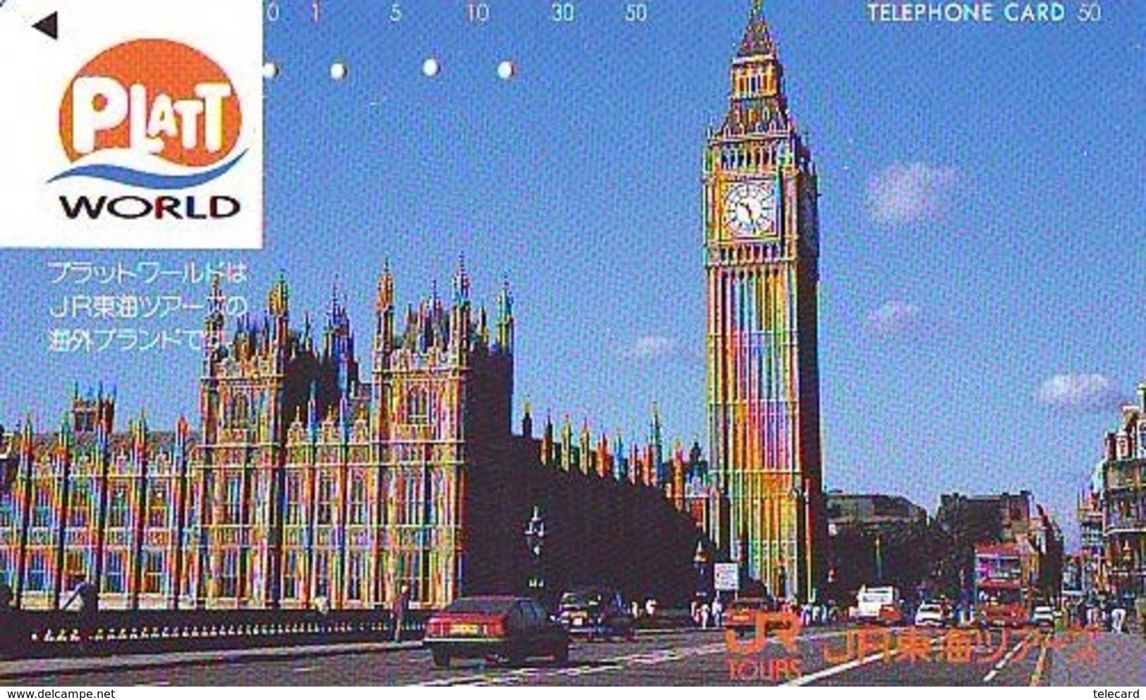 Télécarte Japon ANGLETERRE * ENGLAND *  LONDON * BIG BEN (350) GREAT BRITAIN Related *  Phonecard Japan * - Paysages