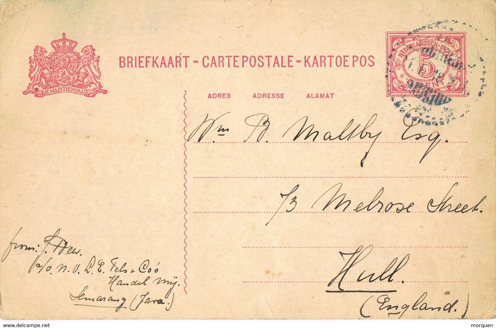 31523. Entero Postal SEMARANG (Java) India Holandesa 1918 - Indes Néerlandaises