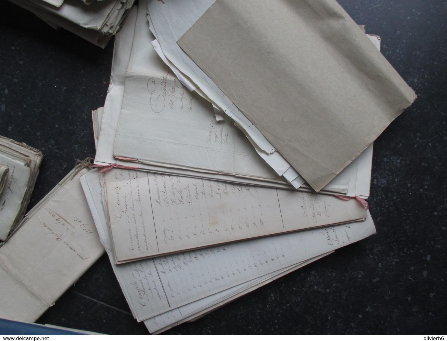 GROS LOT VP BELGIQUE (V1610) 18 & 19ème Siècle (7 Vues) Famille De Dobbeleer De Lalieux Lemercier Frasnes Lambusart Bry - Documents Historiques