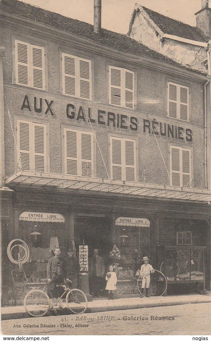 "BAR SUR SEINE - "" AUX GALERIES REUNIES "" BELLE CARTE ANIMEE -  TOP !!! - Bar-sur-Seine"