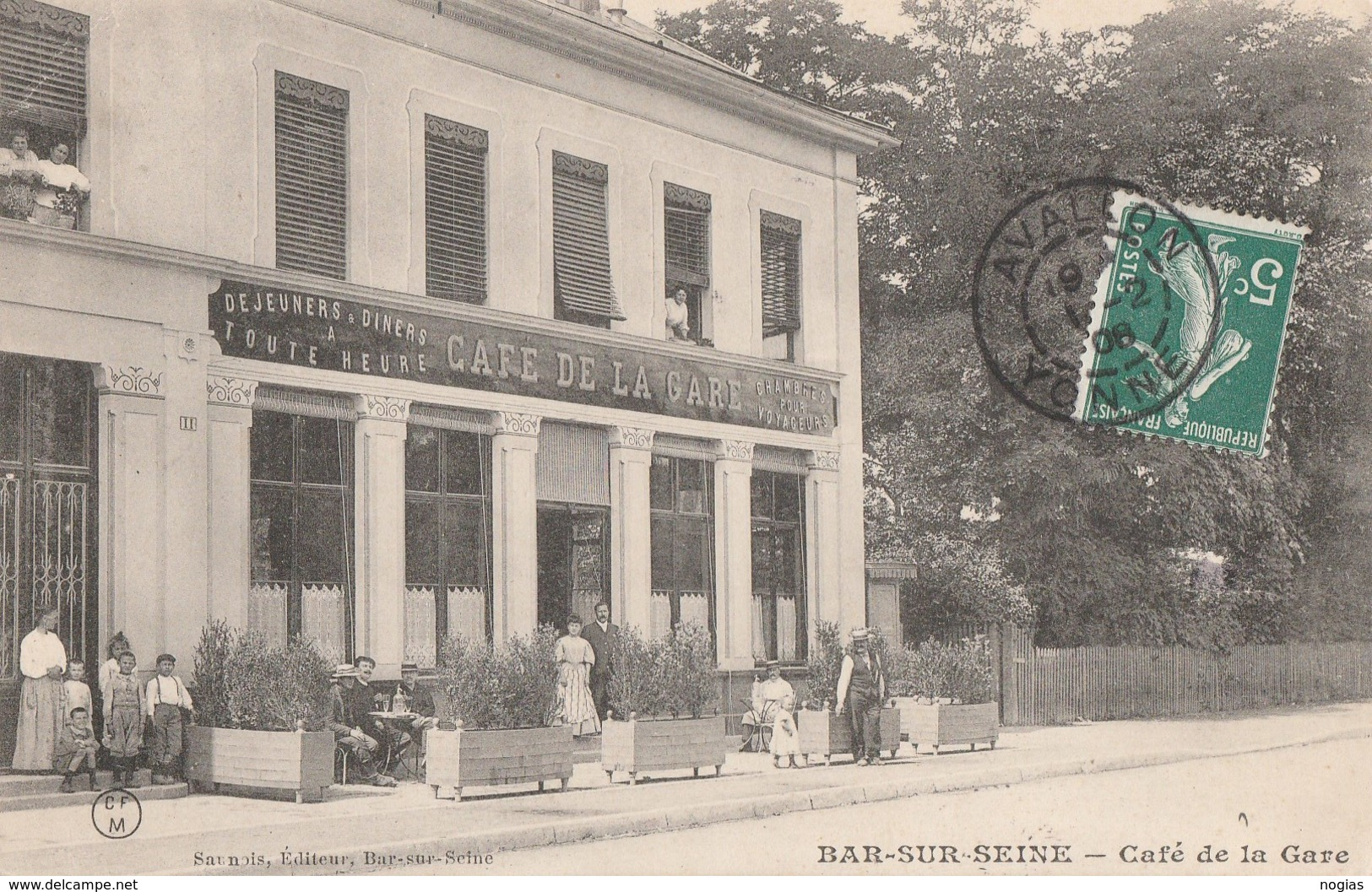 BAR SUR SEINE - LE CAFE DE LA GARE - TRES BELLE CARTE ANIMEE - TOP !!! - Bar-sur-Seine