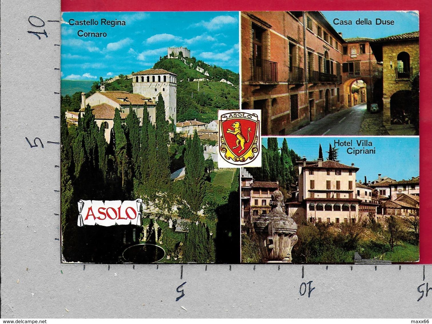 CARTOLINA VG ITALIA - ASOLO (TV) - Vedutine Multivue - 10 X 15 - ANN. 1986 - Treviso