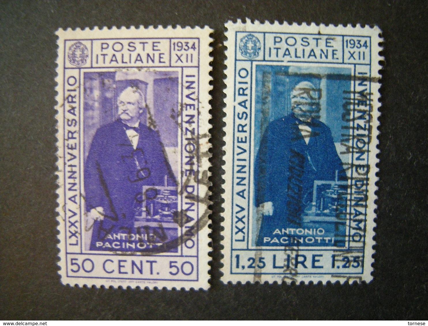1935 - PACINOTTI, Serie Compl. Usata , 2 Val. TTB,  OCCASIONE - Usati