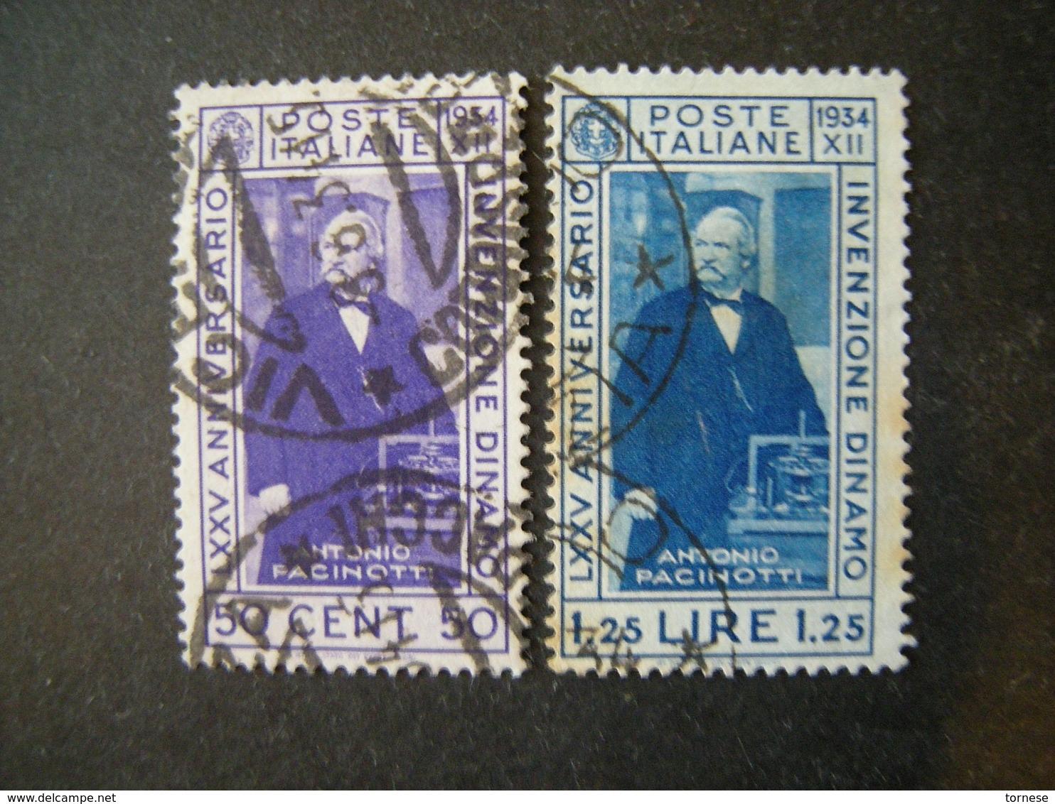 1935 - PACINOTTI, Serie Compl. Usata , 2 Val. TTB,  OCCASIONE - 1900-44 Vittorio Emanuele III