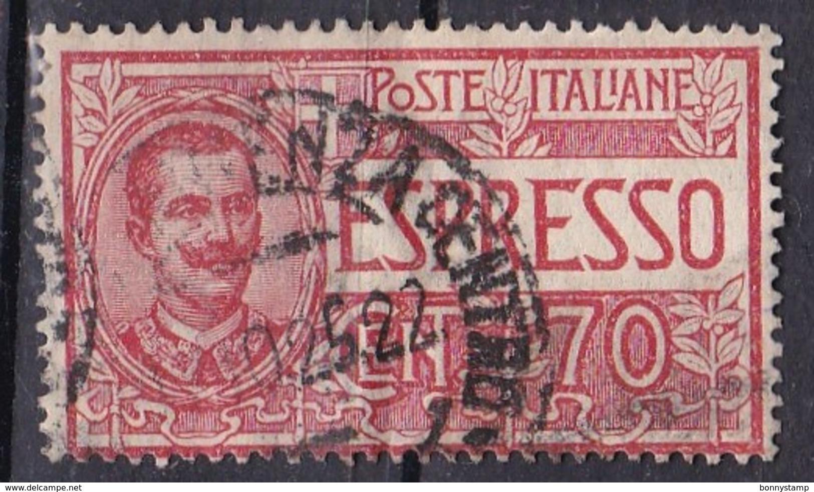 Regno D'Italia, 1925/26 - 70c Espresso, Vittorio Emanuele III - Nr.E11 Usato° - 1900-44 Vittorio Emanuele III