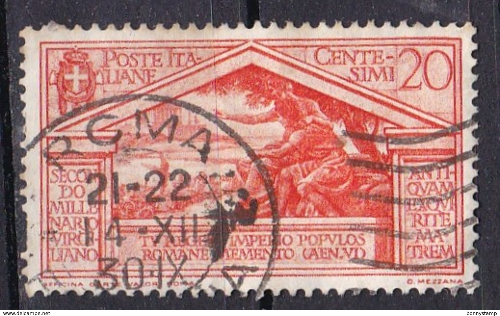 Regno D'Italia, 1930 - 20c Bimillenario Della Morte Di Virgilio, Ben Centrato - Nr.283 Usato° - 1900-44 Vittorio Emanuele III
