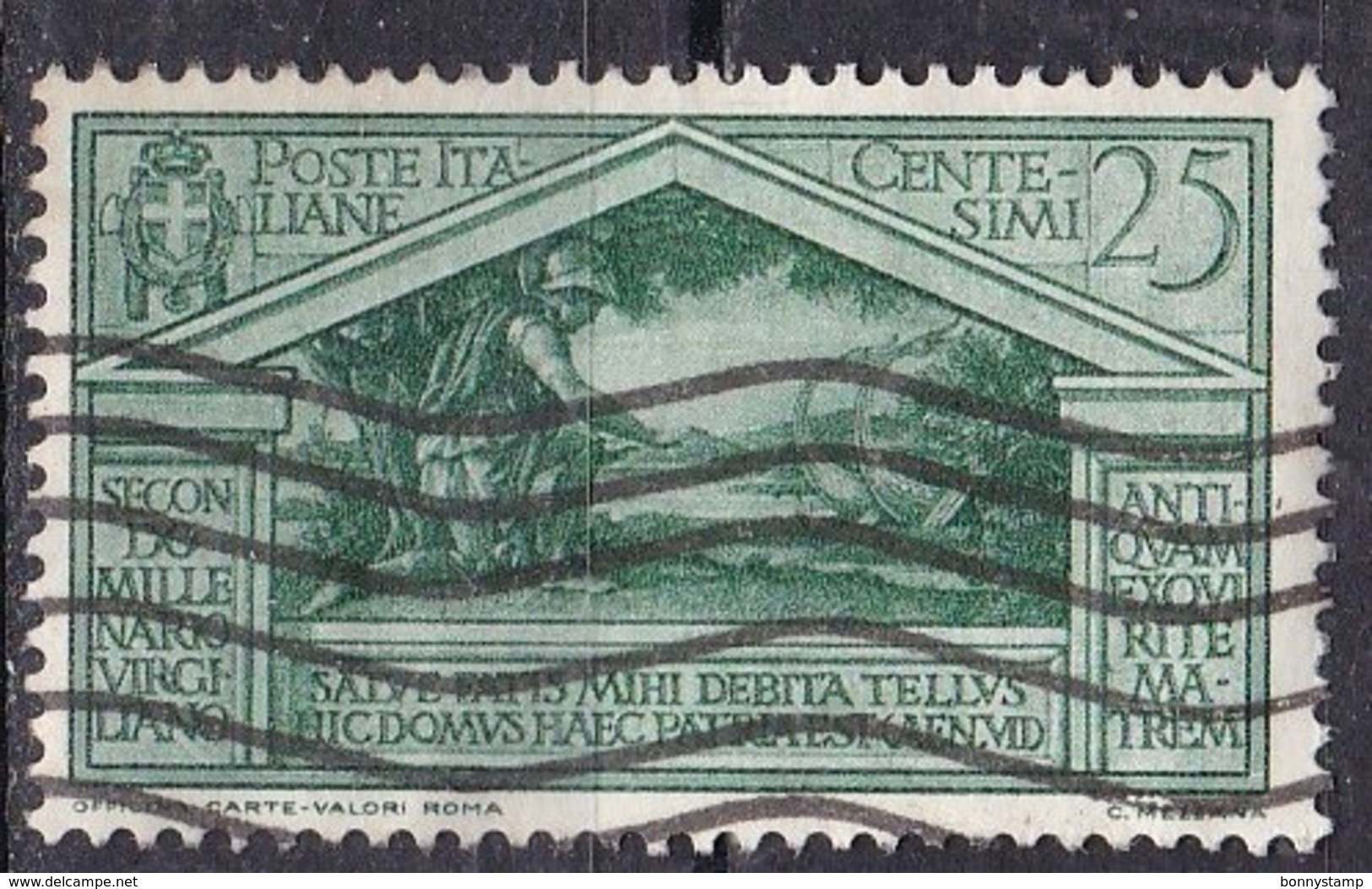 Regno D'Italia, 1930 - 25c Bimillenario Della Morte Di Virgilio, Ben Centrato - Nr.284 Usato° - 1900-44 Vittorio Emanuele III