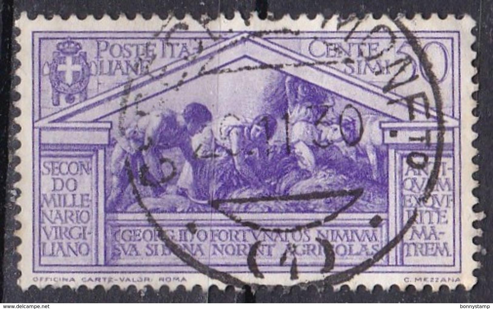 Regno D'Italia, 1930 - 50c Bimillenario Della Nascita Di Virgilio - Nr.286 Usato° - 1900-44 Vittorio Emanuele III