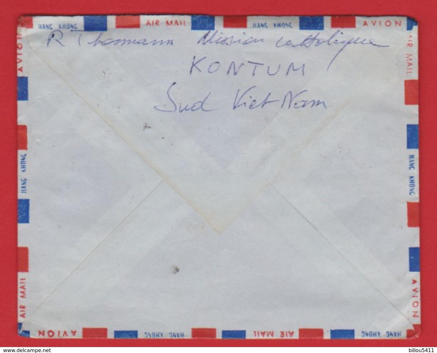 Lettre Du VIET-NAM (KONTUM) à FRANCE (SENONES) 1969 - Viêt-Nam