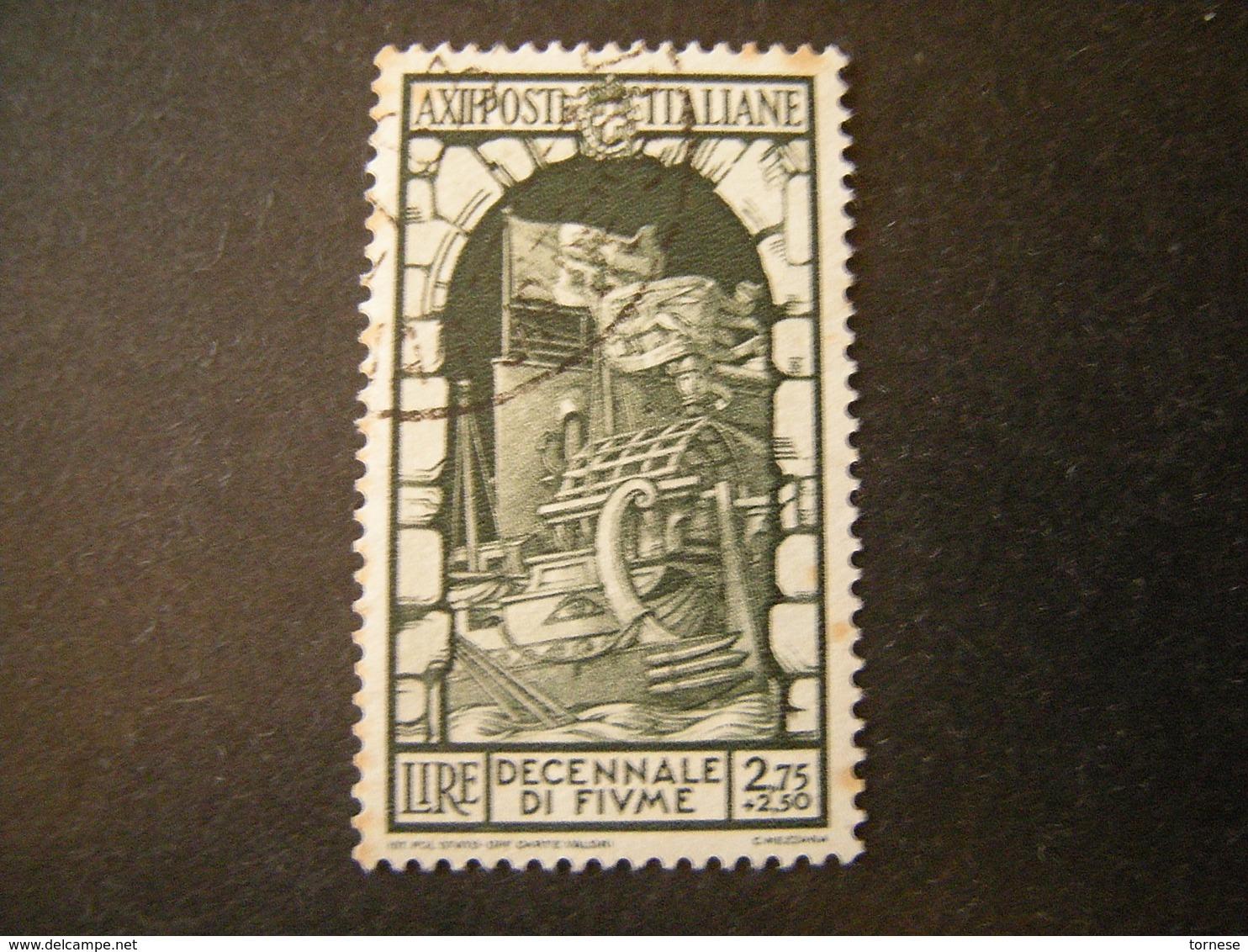 1934 - ANNESSIONE DI FIUME , Sass. N. 356. Usato, TTB,  OCCASIONE - Usati