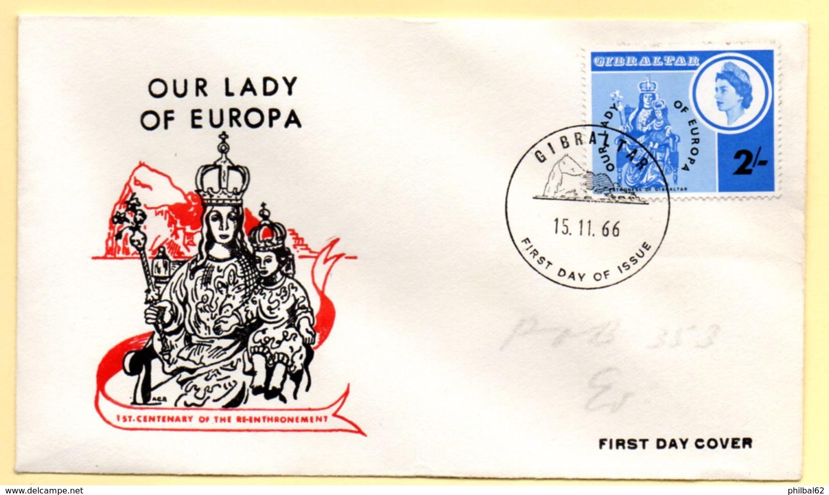 Europa 1966, FDC. Gibraltar.  C à Date Du 15/11/1966 - Europa-CEPT