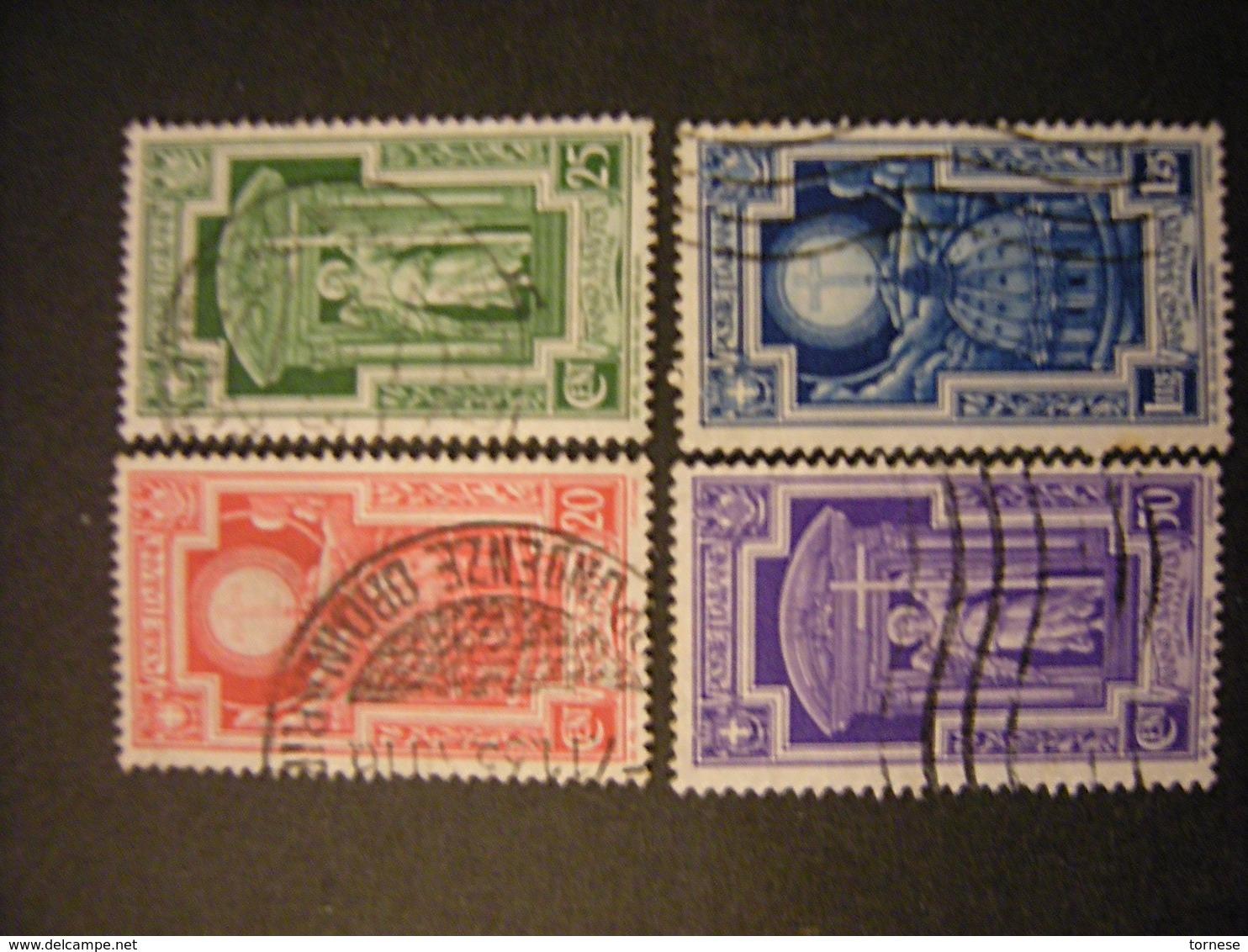 1933 - ANNO SANTO , Sass. N. 345/48, Usati, TTB,  OCCASIONE - Usati