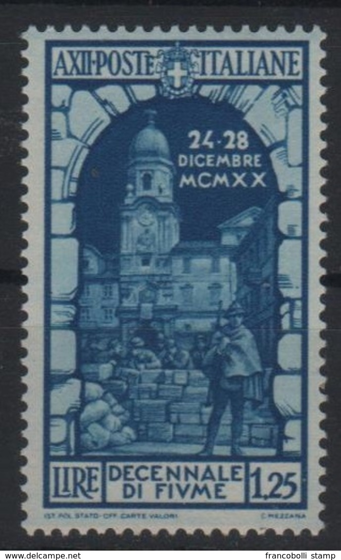 1934 Fiume P.o. MNH - Usati