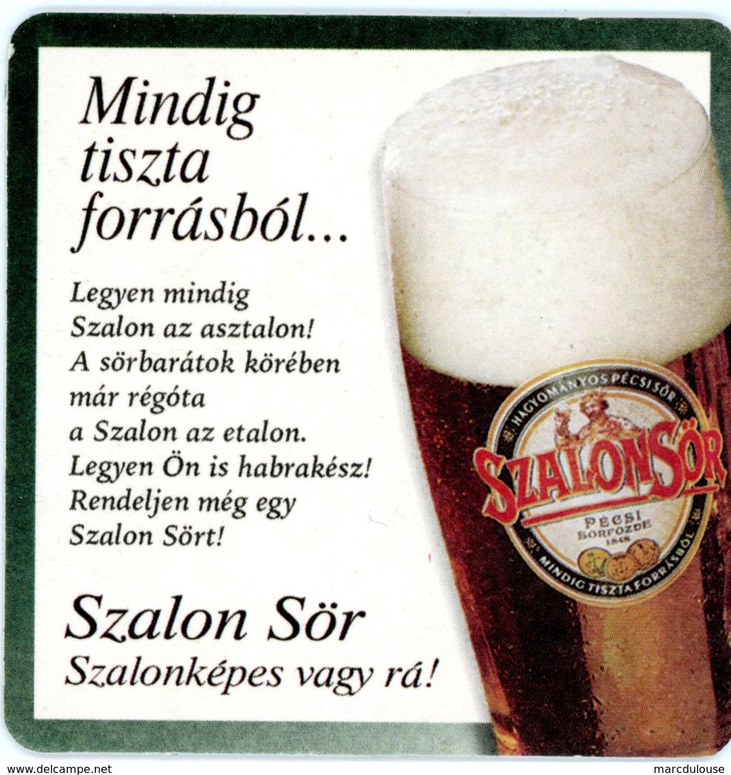 Hungary. Szalonsör. Pécsi Sörfözde. 1848. Mindig Tiszta Forrasbol... Szalon Sör. Szalonképes Vagy Ra! Magyar Beer. - Sous-bocks