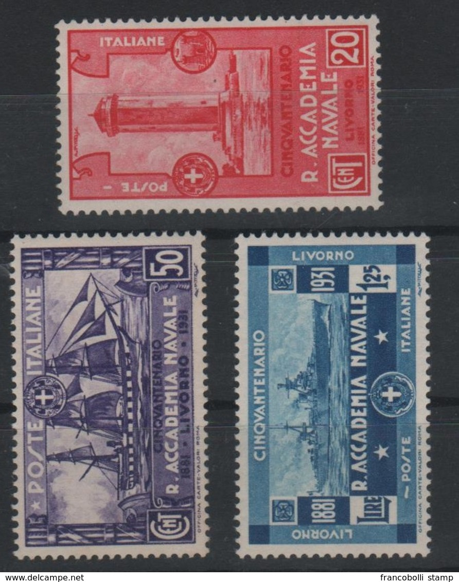 1931 Accademia Navale P.o Serie Cpl MNH - Usati