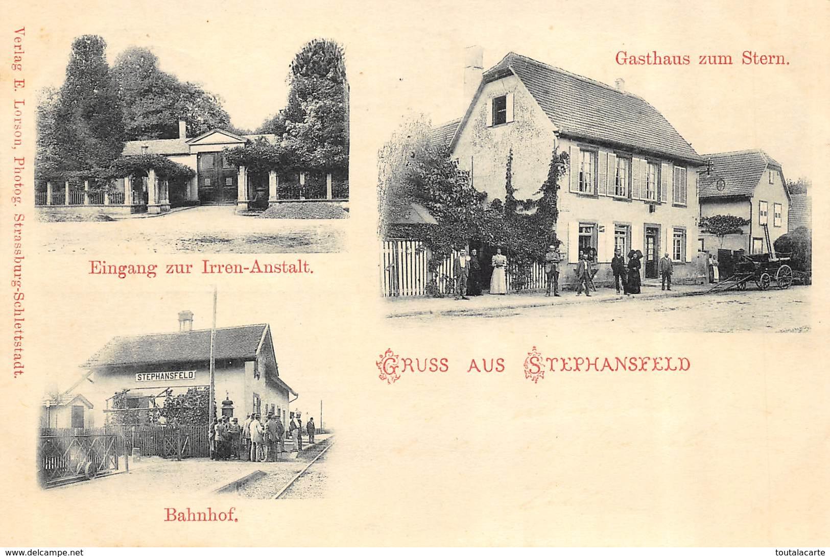 CPA 67 BRUMATH GRUSS AUS STEPHANSFELD  1900  Rare - Brumath